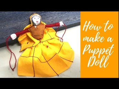 Easy PUPPET DOLL at Home Tutorial (In HINDI)