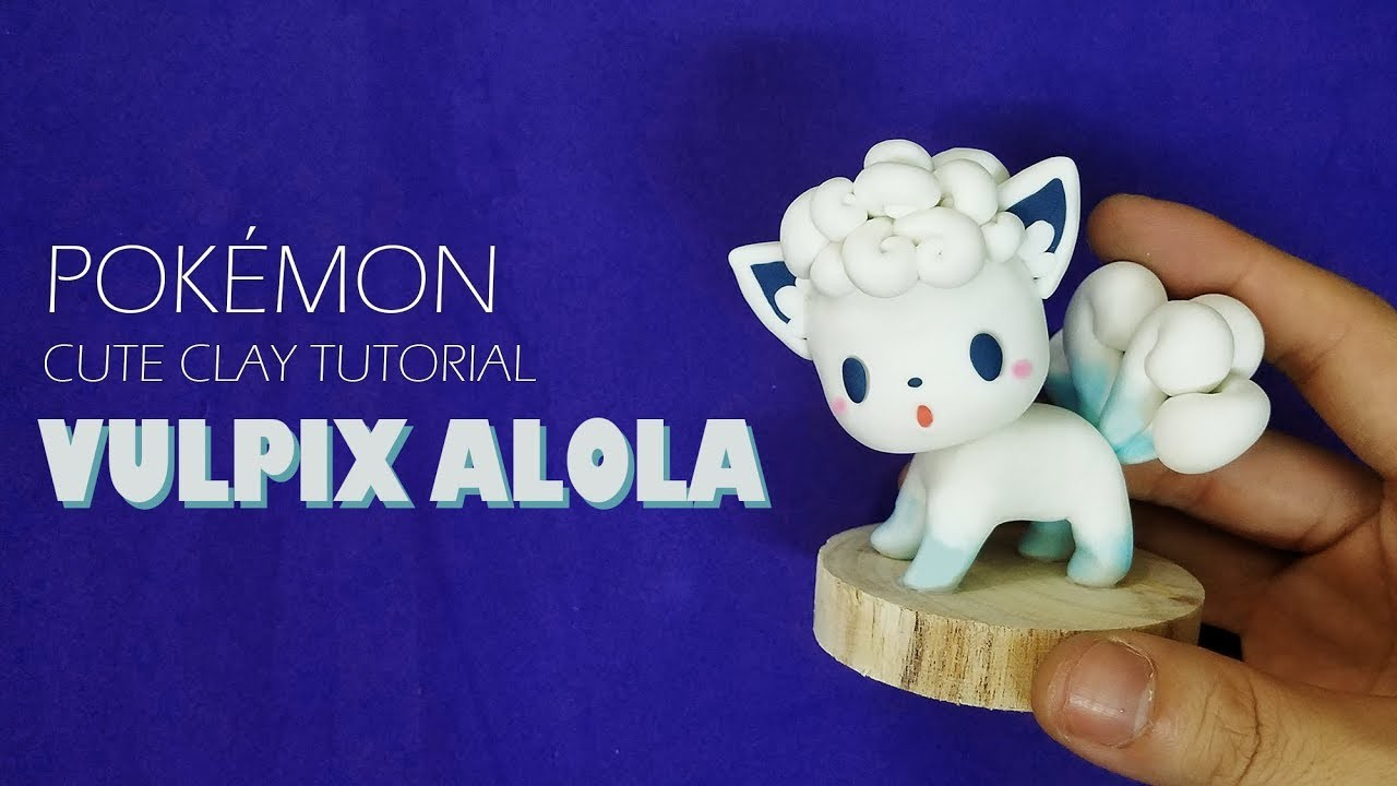 EP 12:HOW TO SCULPT VULPIX ALOLA Pokémon -Clay tutorial|Boo's Handmade (Clay With Boo)|Pokemon clay