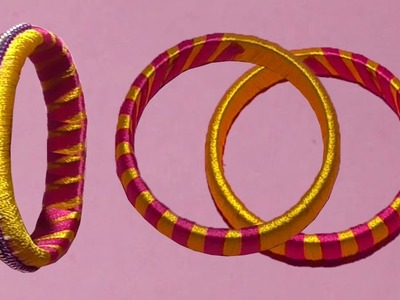 Fashion Bangles Latest Designs With Silk Thread | DIY Bangles Crafts Ideas . !