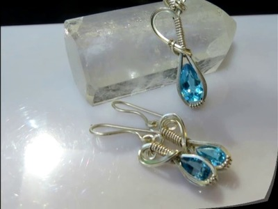 Genie Bottle Pendant & Earrings   A Wire Wrap Tutorial