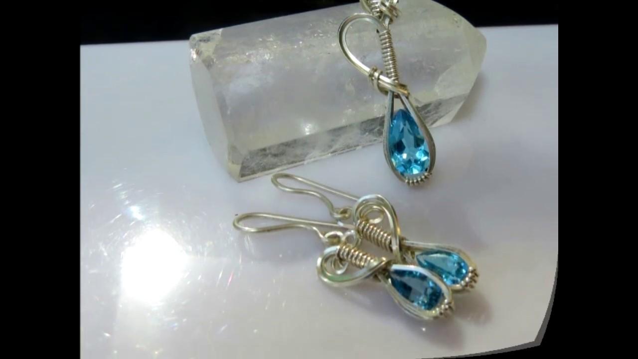 Genie Bottle Pendant & Earrings   A Wire Wrap Tutorial