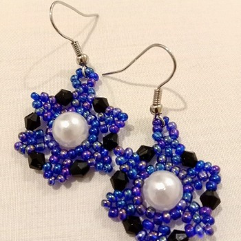 Handmade Beaded Pearl Earrings Jewellery