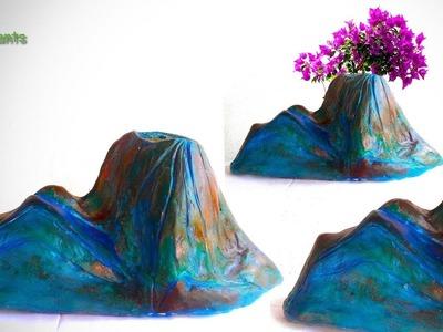 Handmade Cement Planter Vase at Home-Decorative Showpiece for Room Decor.GREEN PLANTS