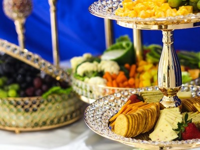 How to create your own opulent appetizer display    DIY Appetizer Display