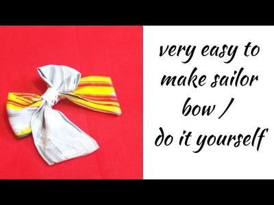 How to Make a Pretty Bow.Simple and Easy.DIY