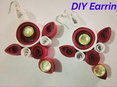 How to make Qulling Earrings   Womens Day Special   Easy DIY earrings