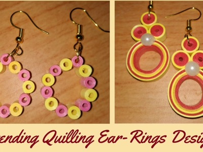 How to Make Trending Quilling Ear Rings at Home? DIY 2019 @Simplified Crafts and Arts