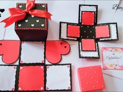 Infinity Box with mini explosion box | Handmade | Photo Album | S Crafts | Birthday. Anniversary