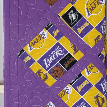 Laker Baby Quilt New Handmade Nursery Toddler Quilt