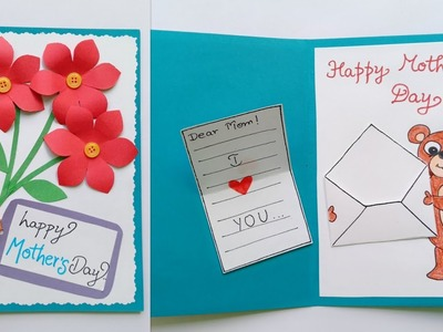 Mother's Day Card.Handmade Mother's Day Card Making.Gift Ideas for Mother.Mother's Day Crafts