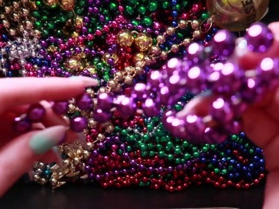 No Talking ASMR Mardi Gras Beads Triggers for Relaxation