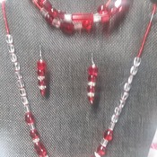 Red hearts 3 pc set. 113557