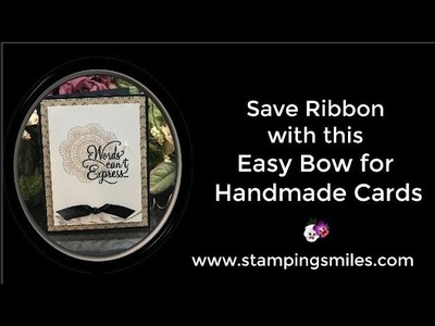 Save Ribbon with this Easy Bow for Handmade Cards