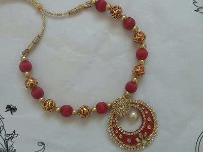 Silk thread necklace|How to make silk thread necklace|Handmade silk thread necklace|Jewelry  Making