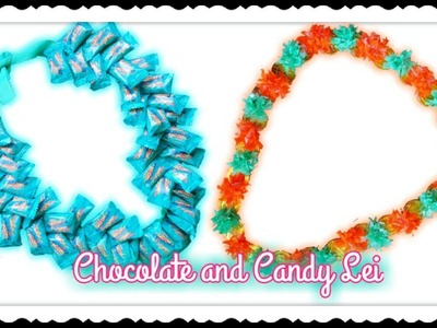 Super Easy DIY Chocolate and Candy Lei | | Graduation Lei. Garland for kids