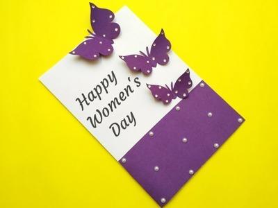 Womens Day Greeting Card | Women's Day Card Idea | Handmade Card Making