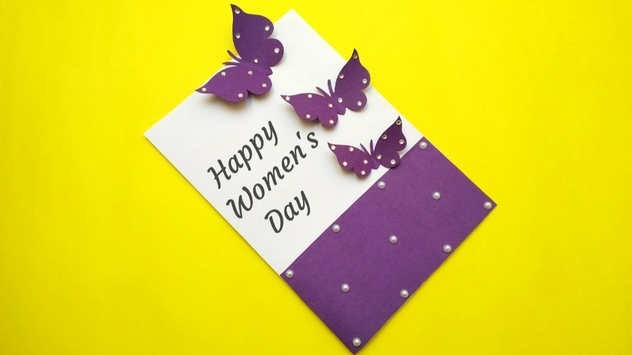 Womens Day Greeting Card   Women's Day Card Idea   Handmade Card Making
