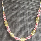 "21"" glass seed beads necklace  164150"