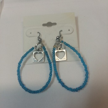 Blue oval hoops  115751