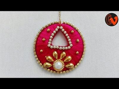 Chandbali Maang Tikka. Tutorial. Silk thread jewellery