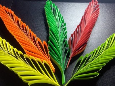 COLORFUL PAPER LEAVES | CRAFTS FOR KIDS AND HOME DECORATIONS