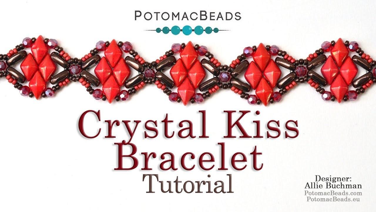 Crystal Kiss Bracelet - Beadweaving Tutorial