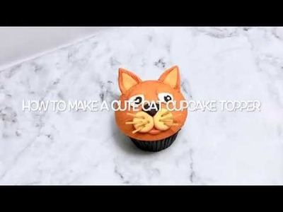 Cute 'Cat' cupcake topper tutorial (something for the kids)