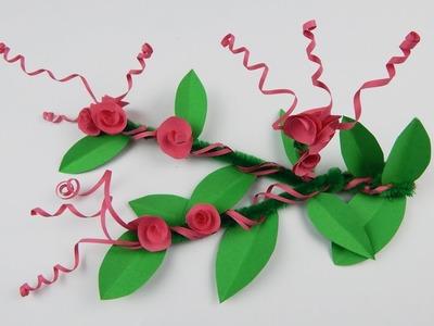 Decoration flower DIY papercraft table decoration Deko Blume