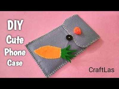 DIY Cute Phone Case Making Idea With Felt | CraftLas