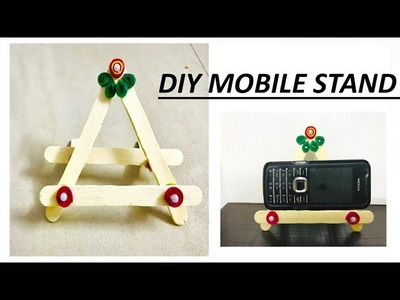DIY how to make mobile stand at home.unique mobile stand with ice cream sticks. paper quilling.craft