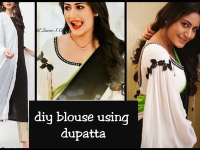 DIY : How to Make डिजाइनर ब्लाउज  (diy blouse out of waste fabric).surbhi inspired blouse