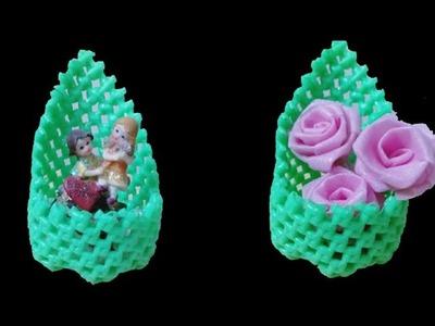DIY Plastic wire Koodai Doll Holder | Flower Holder Step by Step clear Tutorial in Tamil