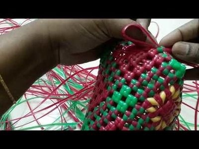 DIY - Wire bag - Mery Gold (சாமந்தி பூ ) bag Demo 2.5