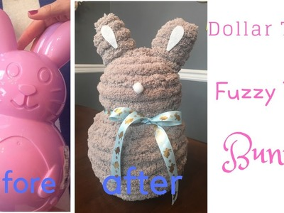 Easter Egg Container to Fuzzy Yarn Bunny Tutorial Dollar Tree