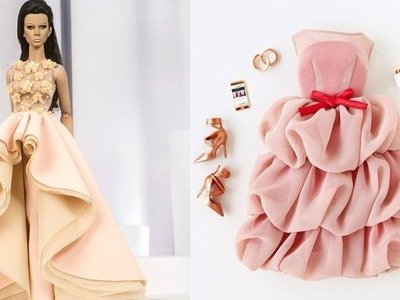 Easy and Beautiful DIY Barbie Doll Dresses | Gown for Barbie