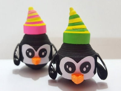 ✅ Easy Quilling Penguins | Quilling paper penguin