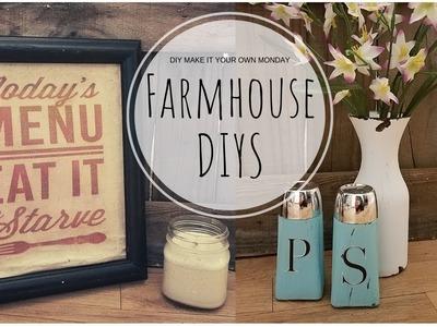 FARMHOUSE KITCHEN DECOR DIY | DOLLAR TREE SALT & PEPPER SHAKER | CANVAS | SHABBY CHIC