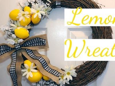 Farmhouse Lemon Wreath DIY | Under $15 Spring Lemon Series Ep. 1???? | Farmhouse Decor