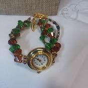 Hand beaded watch band 152400