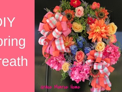 How to Make a Floral Wreath for Spring or Summer  - DIY Wreath Ideas