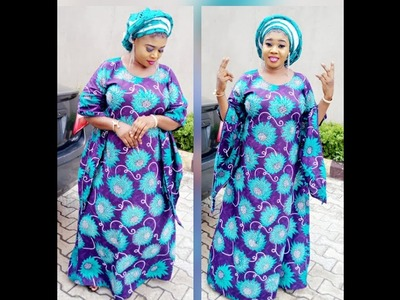 How To Make Ankara Butterfly Sleeve A Line Dress DIY #Xclusive Butterfly