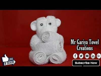 How to make - Kola,Teddy Bear | towel art | Origami | Towel Folding | Tutorial