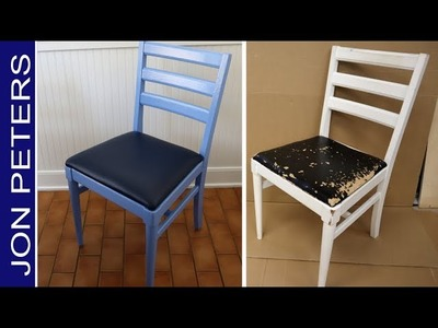 How to Refinish. Paint and Upholster old Chairs - DIY Upcycle Project