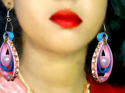 Make Quilling paper Earrings For girlS | how to make earrings with paper |