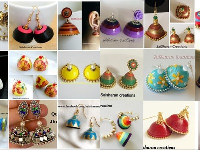 My over all Paper made jhumkas.Paper Quilling Jhumkas collection.jhumkas from 2016-2019.Handmade