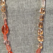 Orange and peach color necklace 142900