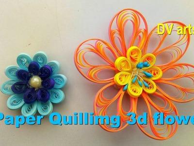 Paper quilling 3d flower