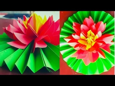#Paper Quilling | How To Make Beautiful Water Lily With Paper || Make Beautiful Lotus 2019.