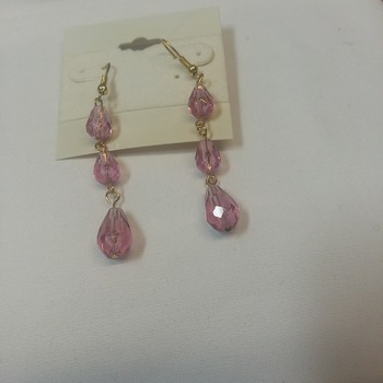 Pink dangle earrings   115241