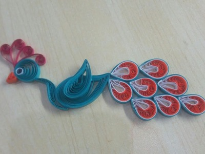 Quilling peacock tutorial | RJ pepper peacock handmade decotion